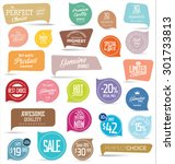 Stock vector premium quality modern labels collection 301733813