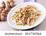 pasta with walnut sauce | Shutterstock . vector #301734566