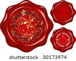 set of red seals   version... | Shutterstock . vector #30173974