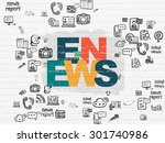 news concept  painted...   Shutterstock . vector #301740986