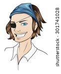 pirate | Shutterstock .eps vector #301741028