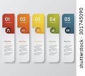 design clean number banners... | Shutterstock .eps vector #301745090