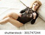 portrait of a beautiful... | Shutterstock . vector #301747244