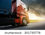 truck on highway | Shutterstock . vector #301750778