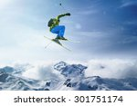 skier jumps | Shutterstock . vector #301751174