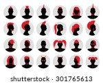 set of male and female goth ... | Shutterstock .eps vector #301765613