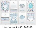 stock vector set of brochures... | Shutterstock .eps vector #301767188