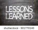 Lessons Learned Written On A...