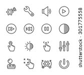 Controls Icons   Vector  Eps10...