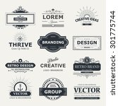 retro vintage labels insignias... | Shutterstock .eps vector #301775744