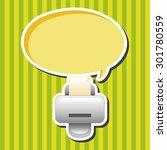 computer related desktop icon... | Shutterstock .eps vector #301780559
