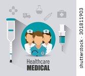 medical healthcare design ... | Shutterstock .eps vector #301811903