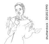 musicans of jazz. vector... | Shutterstock .eps vector #301811990