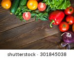 organic food background  fresh... | Shutterstock . vector #301845038