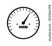 simple speedometer gauges in... | Shutterstock .eps vector #301866398