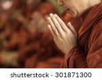Pray Of Monks On Ceremony Of...
