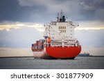 Cargo Container Ship At...