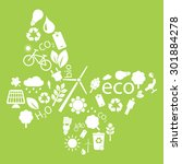 eco icons to form into a... | Shutterstock .eps vector #301884278