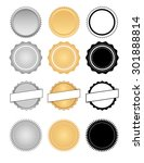 classic style seals  badges ... | Shutterstock .eps vector #301888814