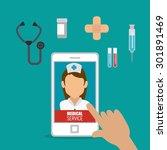 medical healthcare design ...   Shutterstock .eps vector #301891469