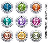 warranty seal chrome badge with ... | Shutterstock .eps vector #301893050