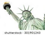 The Statue Of Liberty Isolated...