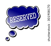 reserved white stamp text on... | Shutterstock . vector #301908170