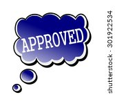 approved white stamp text on... | Shutterstock . vector #301922534
