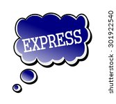 express white stamp text on... | Shutterstock . vector #301922540
