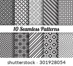 set of 10 abstract patterns.... | Shutterstock .eps vector #301928054