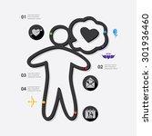 valentine's day infographic   Shutterstock .eps vector #301936460