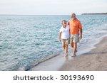 Beautiful Senior Couple Takes A ...