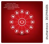 global communication concept... | Shutterstock .eps vector #301944686