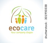 eco care logo  nature... | Shutterstock .eps vector #301950338