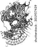 the charm of woman illustrator | Shutterstock .eps vector #301957439