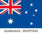 australia flag vector | Shutterstock .eps vector #301957634