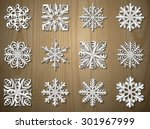 vector christmas paper... | Shutterstock .eps vector #301967999