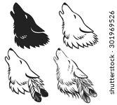 Howling Wolf's Head. Hand Drawn ...