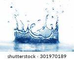clean water splash on white... | Shutterstock . vector #301970189
