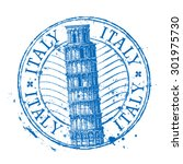 italy vector logo design... | Shutterstock .eps vector #301975730