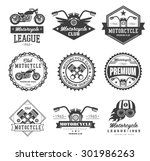 badges  emblems motorcycle... | Shutterstock .eps vector #301986263