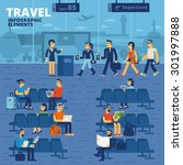 travel infographic elements | Shutterstock .eps vector #301997888
