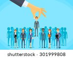 recruitment hand picking... | Shutterstock .eps vector #301999808