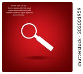 magnifying glass isolated on... | Shutterstock .eps vector #302001959