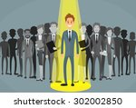 businessman spotlight human... | Shutterstock .eps vector #302002850