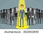 businessman spotlight human... | Shutterstock .eps vector #302002850