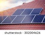 rooftop solar panels | Shutterstock . vector #302004626