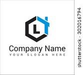 modern and stylish logo design... | Shutterstock .eps vector #302016794