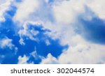 huge cumulus clouds against the ... | Shutterstock . vector #302044574