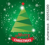 merry christmas card  with... | Shutterstock .eps vector #302052200
